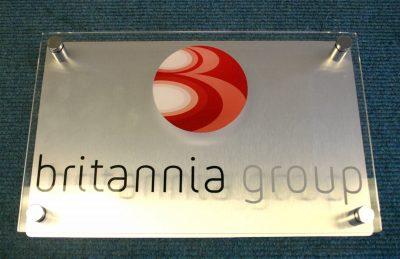 aluminium office sign