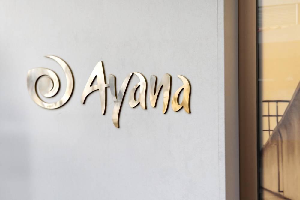 ayana-logo-design-signage-mockup