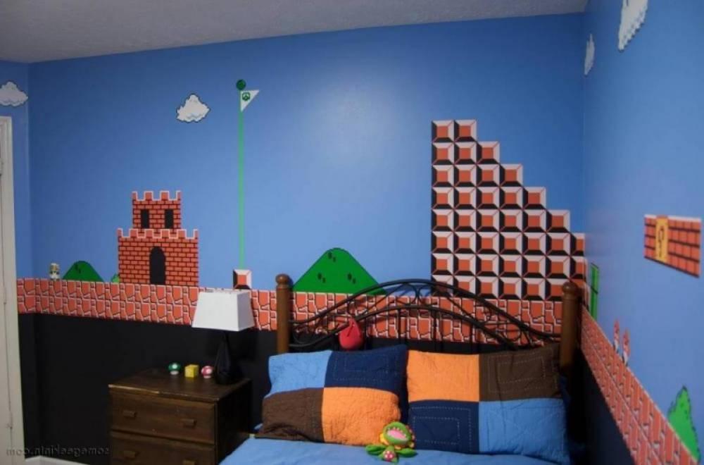 interior-bit-mario-bros-boy-bedroom-mural-bedroom-decoration-using-stunning-bedroom-mural-design